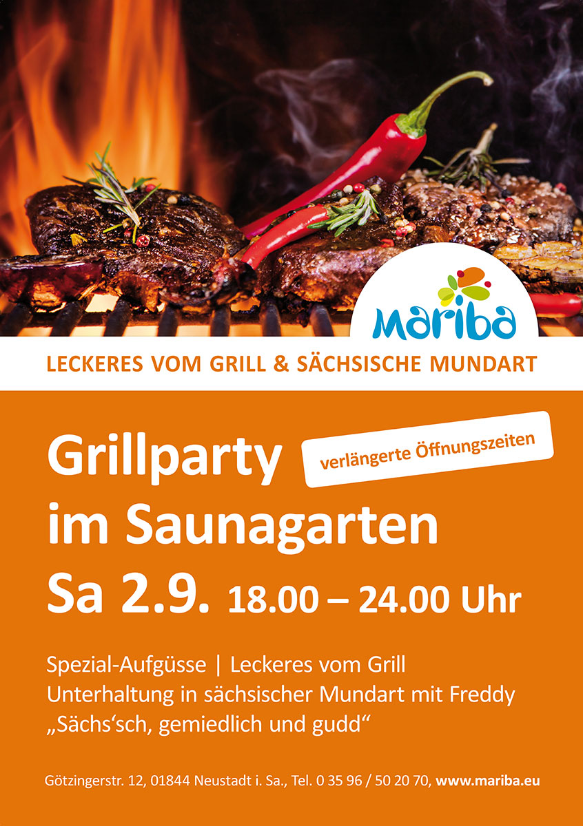 Grillparty im Saunagarten